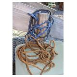 LOT OF TWO POLY ROPE STEER HALTERS