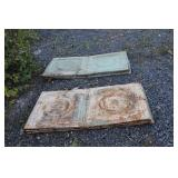 LARGE LOT OF ANTQ CEILING TIN