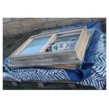 LARGE LOT OF WINDOW GLASS AND WINDOWS