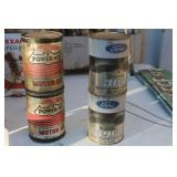 LOT OF FOUR VTG. OIL CANS