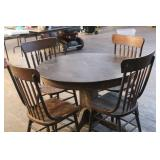 ANTQ KITCHEN TABLE AND FOUR CHAIRS