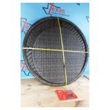 32IN ROUND WOVEN TOP COFFEE TABLE
