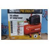 3 gal 1/3HP 100 PSI Oil-Free Hotdog Air Compressor