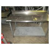 Stainless Steel Work Table, 34x60
