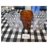 Lot of 3 Beverage Pitchers