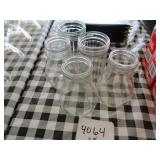 Lot of 5 Glass Containers