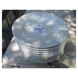 "Lot of 10: 11"" Round White Plates"