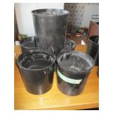 Lot of 5: Food Containers, black