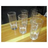 "Lot of 6: 6"" Glass Cups"