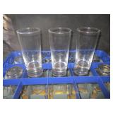 "Lot of 13: 6"" Glass Cups"