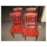"Lot of 4: Wood Chairs 18"" x 35"" x 17"""