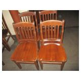 "Lot of 4: Wood Chairs 18"" x 36"" x 16"""