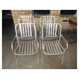 "Lot of 4: Outdoor Chairs 20"" x 33"" x 17"""