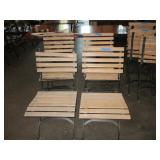 "Lot of 4: Outdoor Wood Chairs 18"" x 33"" x 17"""