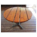 "Round Wood Plank Table 44"" x 43"" x 30"""