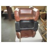 "Lot of 3: Booster Chairs 15"" x 12"" x 8"""