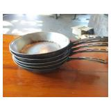 "Lot of 5: 10"" Frying Pans"