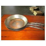 "Lot of 3: 10"" Frying Pans"