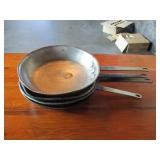 "Lot of 4: 10"" Frying Pans"