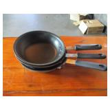 "Lot of 3: 9.5"" Frying Pans"
