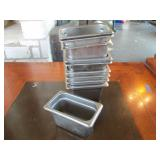 Lot of 10: SS Food Storage Containers