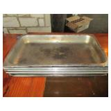 "Lot of 5: Warming Table Pans 13"" x 21"""