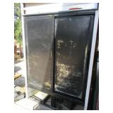 True Sliding Glass Dr. Refrigerator Merchandiser