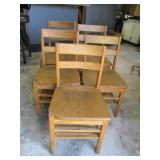 Bid x 5:  Wooden Chairs