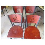 Bid x 4:  Chairs Red w/Logo