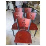 Bid x 5:  Chairs Red w/Logo