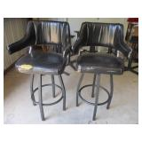Bid x 2:  Tall Chairs/Stools Black