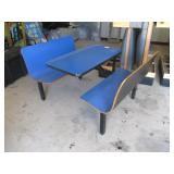Blue Booth Table w/Benches