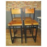 "Bid x 4: Wood Bar Chairs (43"")"