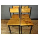 "Bid x 4: Wood Chairs (33"")"