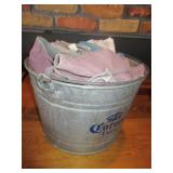 Bucket of Cleaning Clothes