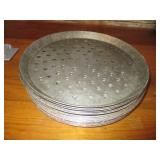 "Bid x 18: Perforated Round Baking Pans (11"")"