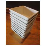 "Bid x 10: Oneida Square White Plates (5"" x 5"")"