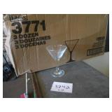 Lot of 17: Martini Glasses