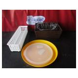 Misc. Baskets, Lids, Plate, etc.