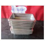 "Bid x 10: SS Food Containers 10.5"" x 6.5"""
