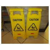 Bid x 2: Yellow Wet Floor Signs