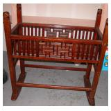 """Vintage Baby Cradle 38"""" Long 19"""" Wide 39"""" Tall"""