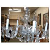 "vintage Glass Chandelier 18"" X 23"""