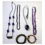 Glass Bead Necklaces & Bracelets 6 pieces