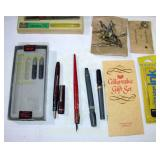 Calligraphy Pens and tips Box Lot