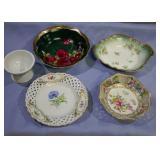 Assorted Vintage Porcelain dishes box lot