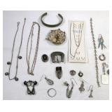 Vintage Estate Sterling Jewelry Lot