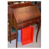 Antique Mahogany Drop Front Desk