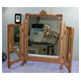 Vintage Vanity Table top folding Mirror