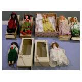 Vintage Dolls Of the World 6 Dolls